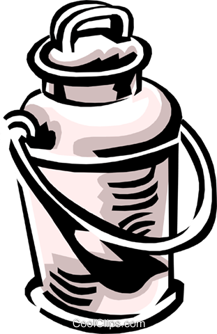 milk can Royalty Free Vector Clip Art illustration indu0794