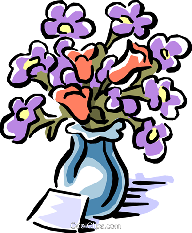flowers Royalty Free Vector Clip Art illustration natu0729