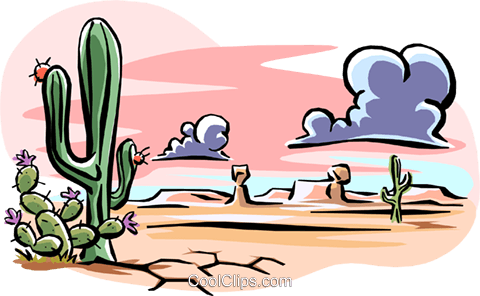 desert landscape Royalty Free Vector Clip Art illustration natu0731