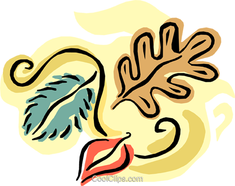 Fall leaves Royalty Free Vector Clip Art illustration natu0733