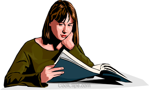woman reading Royalty Free Vector Clip Art illustration peop2301
