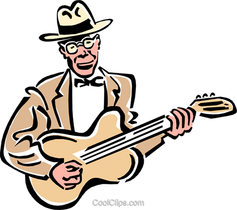 musician/guitar player Royalty Free Vector Clip Art illustration peop2324