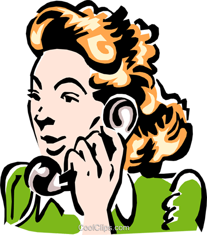 woman on phone Royalty Free Vector Clip Art illustration peop2334