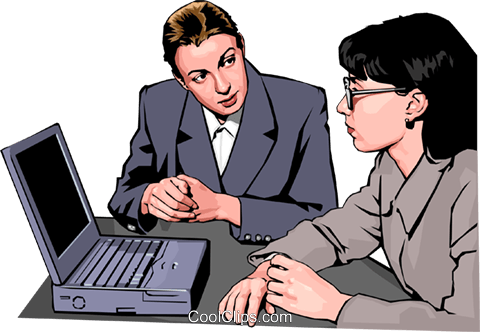 women at work Royalty Free Vector Clip Art illustration peop2344