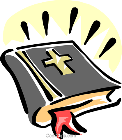 holy bible Royalty Free Vector Clip Art illustration reli0094