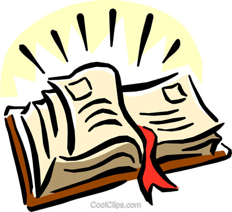 holy bible Royalty Free Vector Clip Art illustration reli0095