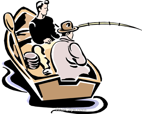 fishing Royalty Free Vector Clip Art illustration spor0253