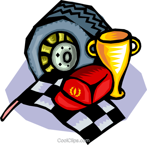 Auto racing Royalty Free Vector Clip Art illustration tran0813