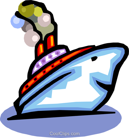 cartoon boat Royalty Free Vector Clip Art illustration tran0815