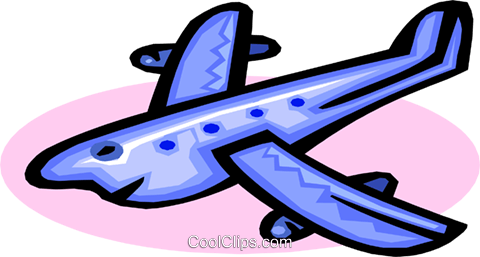 cartoon plane Royalty Free Vector Clip Art illustration tran0817