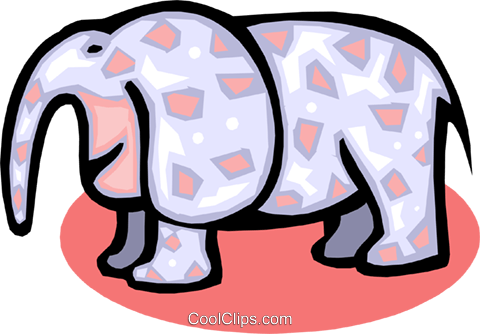 elephant Royalty Free Vector Clip Art illustration anim1587