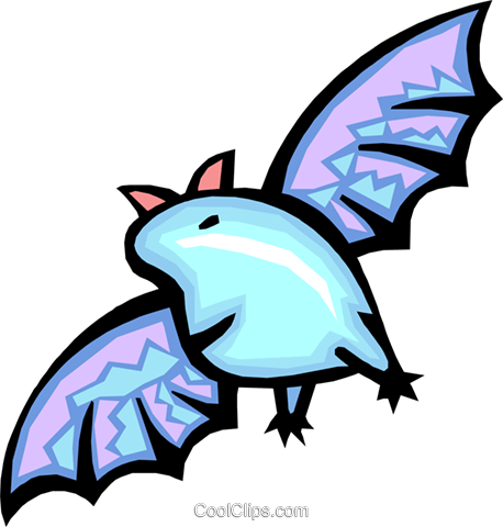 bat Royalty Free Vector Clip Art illustration anim1588