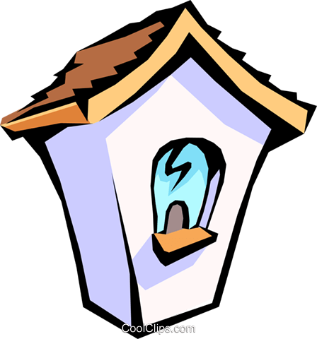 birdhouse Royalty Free Vector Clip Art illustration arch0427