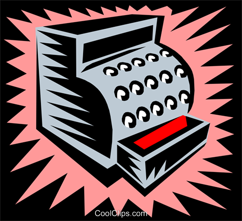 cash register Royalty Free Vector Clip Art illustration busi1370