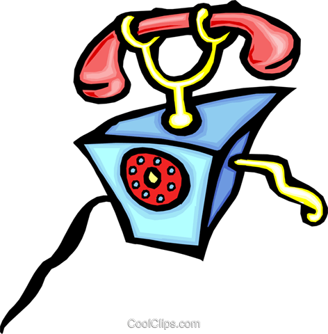 telephone Royalty Free Vector Clip Art illustration busi1392
