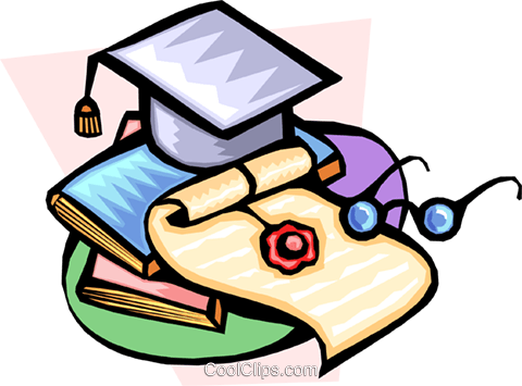 graduation Royalty Free Vector Clip Art illustration educ0002