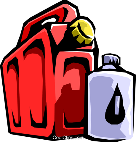 fuel containers Royalty Free Vector Clip Art illustration envi0234