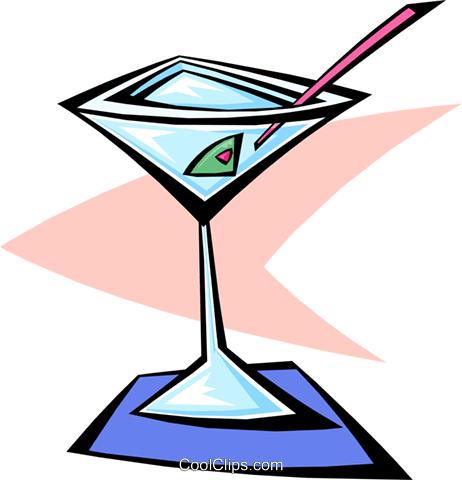 martini cocktail Royalty Free Vector Clip Art illustration food0833