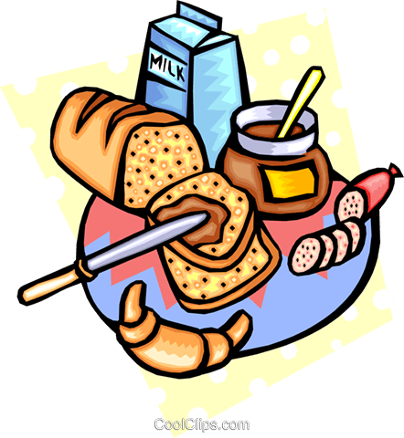 Loaf of bread Royalty Free Vector Clip Art illustration food0834