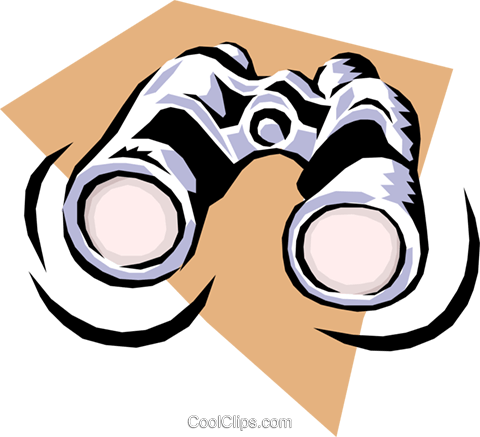 binoculars Royalty Free Vector Clip Art illustration hous1161