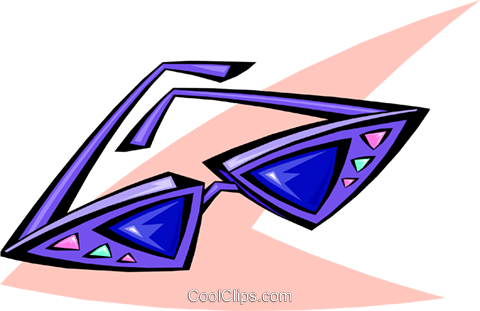 50's style sunglasses Royalty Free Vector Clip Art illustration hous1177