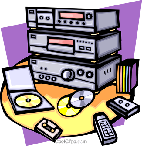 home entertainment Royalty Free Vector Clip Art illustration hous1180