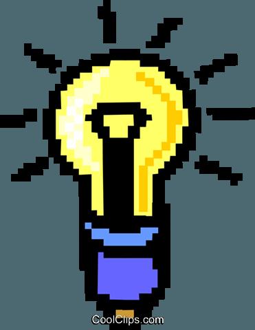 Glühbirne - Symbol Vektor Clipart Bild -hous1181-CoolCLIPS.com