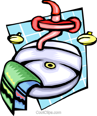 personal hygiene with sink and towels Vektor Clipart Bild -hous1184 ...