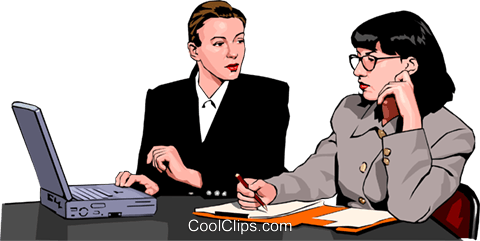 women at work Royalty Free Vector Clip Art illustration peop2346