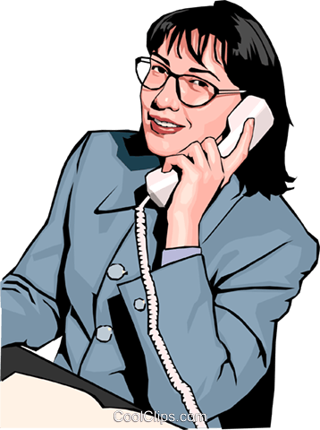 woman on phone Royalty Free Vector Clip Art illustration peop2348