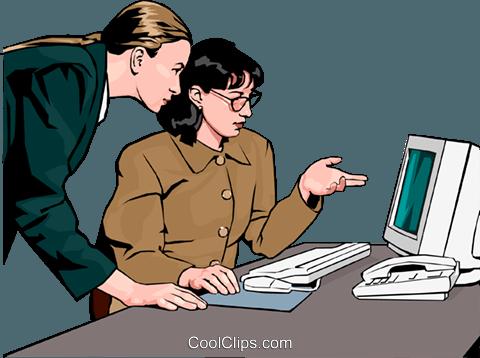 妇女工作 免版税矢量剪贴画插图