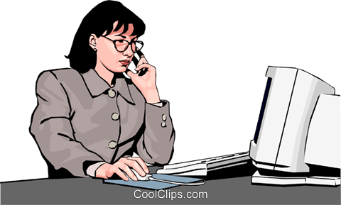 Woman at work Royalty Free Vector Clip Art illustration peop2352