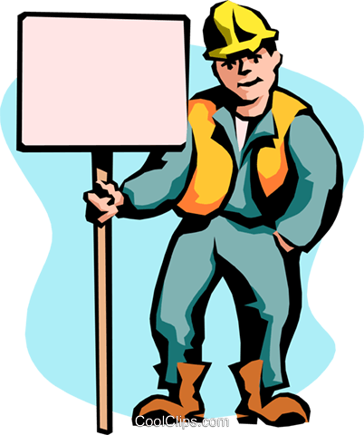 construction sign Royalty Free Vector Clip Art illustration peop2357