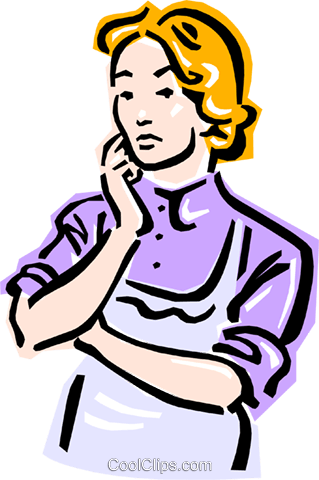 old-fashioned women Royalty Free Vector Clip Art illustration peop2364