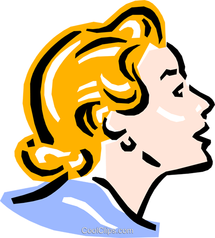 old-fashioned lady - face Royalty Free Vector Clip Art illustration peop2371