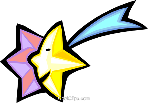 shooting star Royalty Free Vector Clip Art illustration spec0004