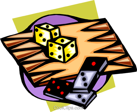 backgammon Royalty Free Vector Clip Art illustration spor0256
