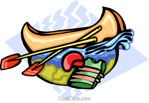 canoeing Royalty Free Vector Clip Art illustration spor0261
