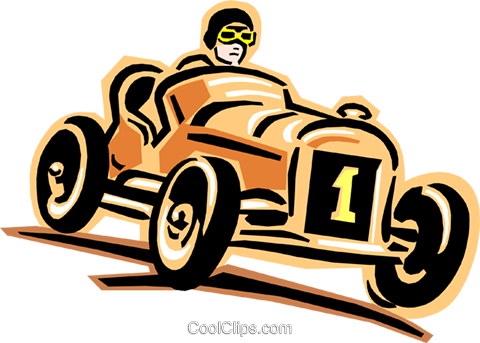racecar Royalty Free Vector Clip Art illustration tran0832