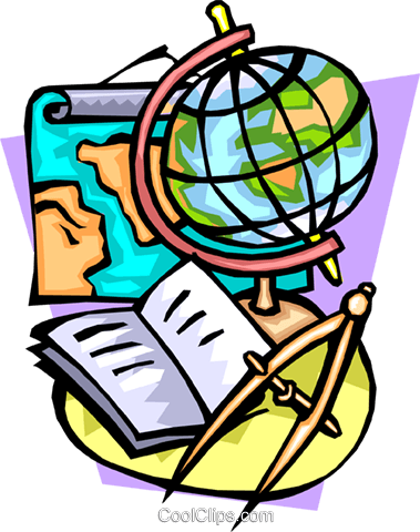 Navigation with globe, compass and map Royalty Free Vector Clip Art illustration worl0690