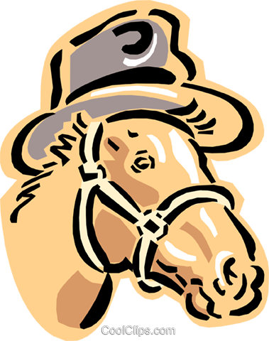 horse Royalty Free Vector Clip Art illustration anim1592