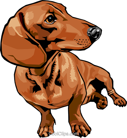 dog Royalty Free Vector Clip Art illustration anim1593