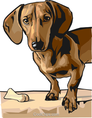 dog Royalty Free Vector Clip Art illustration anim1596