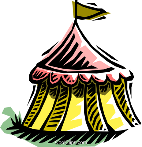 tent Royalty Free Vector Clip Art illustration arch0430