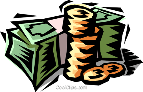 stack of money Royalty Free Vector Clip Art illustration busi1404