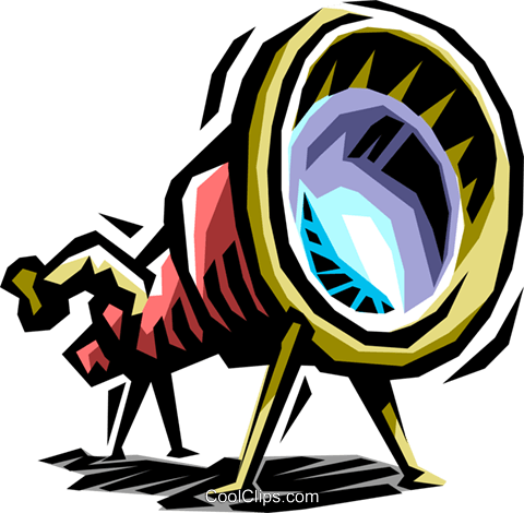 telescope Royalty Free Vector Clip Art illustration busi1408