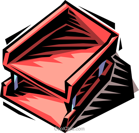 in-out box Royalty Free Vector Clip Art illustration busi1413