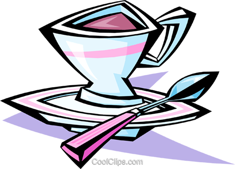 cup of coffee Royalty Free Vector Clip Art illustration food0851
