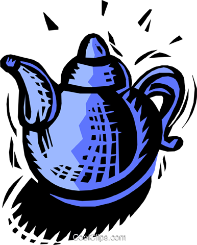 teapot Royalty Free Vector Clip Art illustration food0856