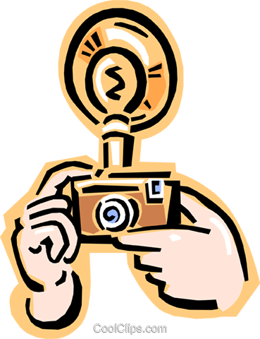 camera being used Royalty Free Vector Clip Art illustration hous1191